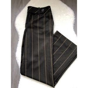 Ann Taylor LOFT Brown Pinstripe Wide Leg Pants